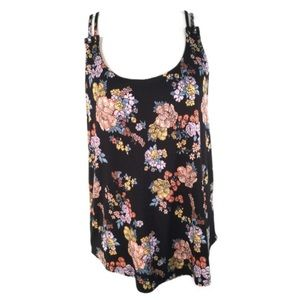 PINK REPUBLIC  NEW Floral Print Double Strap Top M